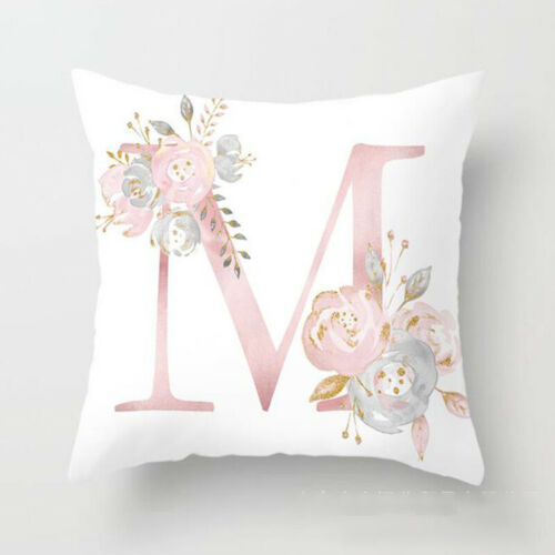 Pink Cushion Cover Up Letter Printed Pillow Case Throw Pillowcase Car Decoration