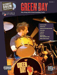 Green Day Drum Play Along Song Book Cd Set New Ebay