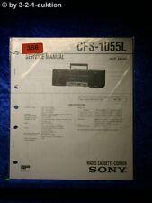 Sony Service Manual CFS 1055L Cassette Corder (#0356)