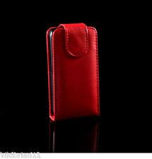Ledertasche Leder Tasche Red Schutz Hülle Handy Etui LG KP500 KP501 Cookie Rot