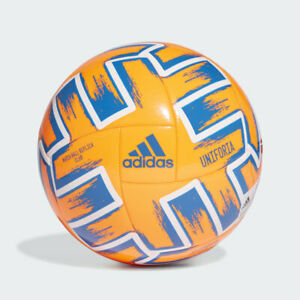 Détails sur Adidas Euro 2020 Uniforia Club Football Ballon Balle Orange Taille 5