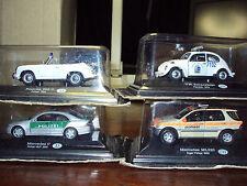 6 X 1:43 WORLD POLICE CARS VW BEETLE RENAULT 18 MERCEDES PORSCHE 356 FIAT MAREA