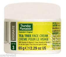 Thursday Plantation Australian Tea Tree FACE CREAM Moisturiser 65g Rosehip/Vit E
