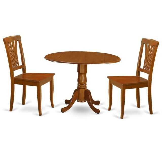 3 Pc Small Kitchen Table And Chairs Set Dining Nook 2