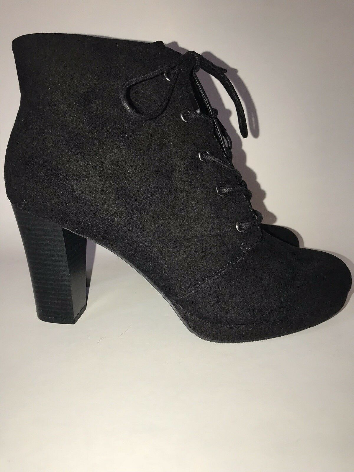 ANA Frosty Womens Black Lace Lace Lace Up Ankle Booties Size 10 da5857