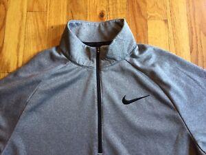 de nuevo Productivo exposición  Nike Men's DRI FIT Half Zip Sudadera Jersey Cuello Alto Gris Polar Tamaño  Grande | eBay