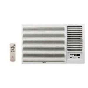 LG LW8016HR - 8,000 BTU 110V Window A/C w/ Heat: Remote & Window Vent Kit Incl.