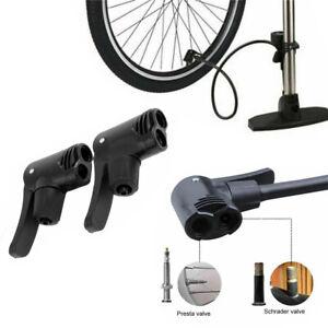 2 Pieces Schrader and Presta Valve Bike Tire Tyre Air Pump Inflator Connector
