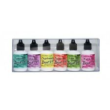 Ken Oliver Color Burst Watercolor pigment powder Caribbean Brights 6 bottles