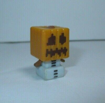 """Minecraft Mini-Figures 1/"""" Skeleton Pumpkin Helmet Obsidian Series Figure Mojang"""