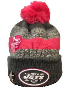 New Era New York NY Jets NFL 16 BCA Knit Pom Beanie Breast Cancer ... 4d62764ee