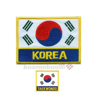 New south korean flag patch 3 x 4 for taekwondo uniform - Picture of a korean flag ...