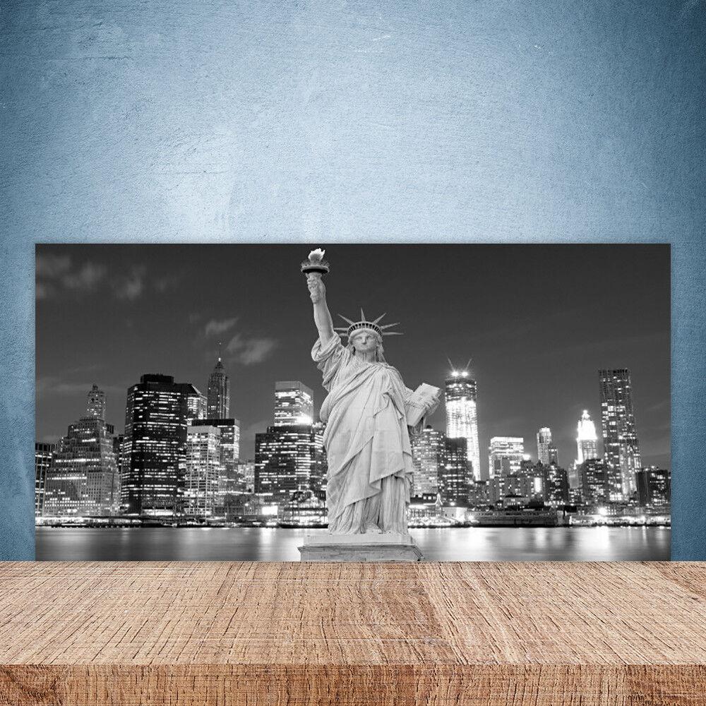 Crédence de cuisine en verre Panneau Paroi 100x50 Statue De La Liberté New York