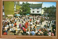 Postcard  Devon the Elizabethan Market  Totnes   unposted Colourmaster
