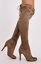 Womens Ladies High Stiletto Heel Over The Knee High Tall Ruched Boots Size