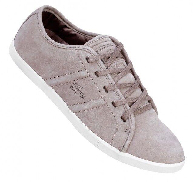 Lacoste Damen ARTESIAN 2 SRW Leder Gr. 40,5 UK 7 Grau Sneaker Nubukleder