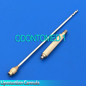 LIPOSUCTION-CANNULA-Plasma-Gold-Plastic-Surgery-Instruments-Stainless-Steel