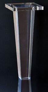 """Acrylic Lucite Legs for Furniture, Sofa, Cabinet Legs Tapered 10""""H, 4PC Deal"""
