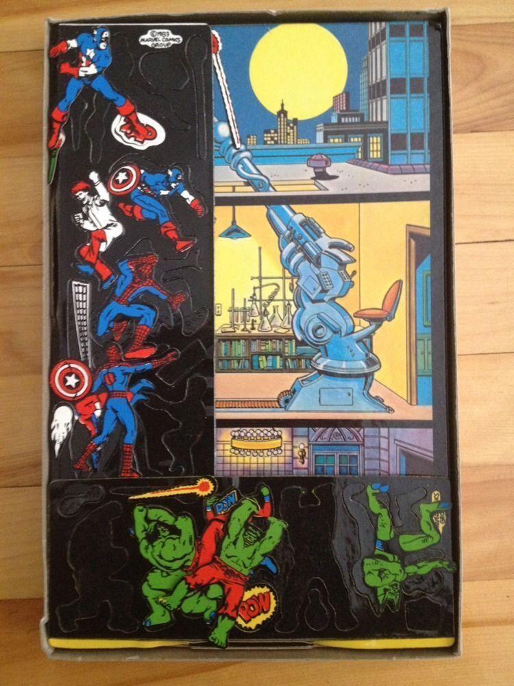 Marvel Super Heroes Heroes Heroes colorforms Play Set 1983 4ba099