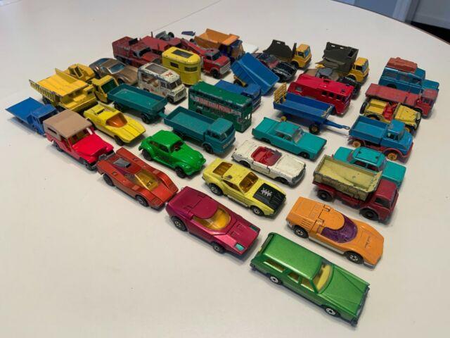 Matchbox Lesney England Vintage Diecast Lot of 38 Cars 1960s Trucks Superfast