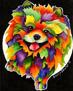 POMERANIAN-8X10-DOG-Colorful-Print-from-Artist-Sherry-Shipley