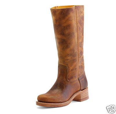 Women/'s Frye Boots Lynn Strap Tall ZipOn Riding Boot Dark Brown 76105 DBN