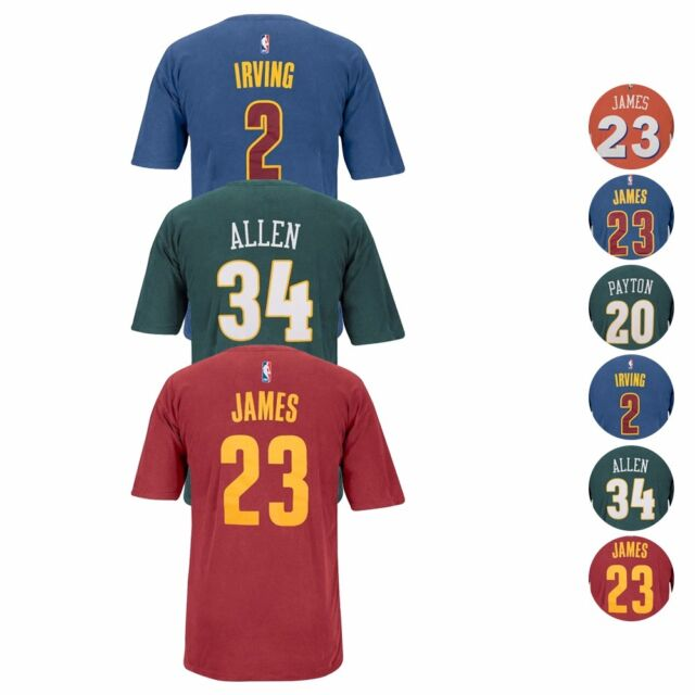 cheap for discount 1ee78 d108b NBA Adidas Official Pigment Dye Premium Player Name & Number Jersey T-Shirt  Men