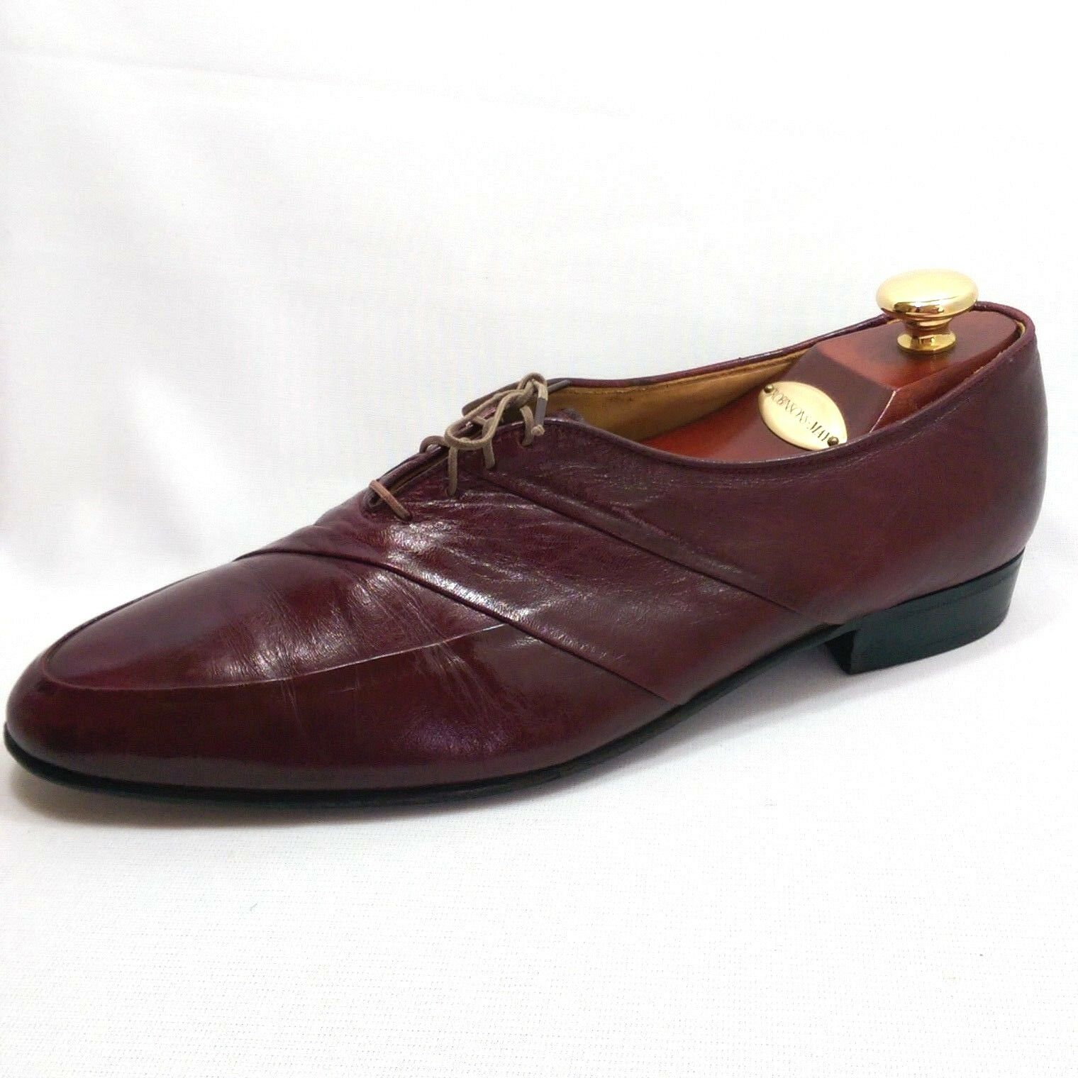 Rodolfo Valentino Collection Burgundy Leather Lace Up Oxfords Mens Größe 10.5 B