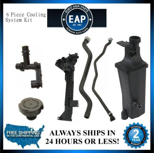 For 323Ci 323i 325Ci 325i 325xi Coolant Cap Tank Mount Thermostat Hose Pipe Kit