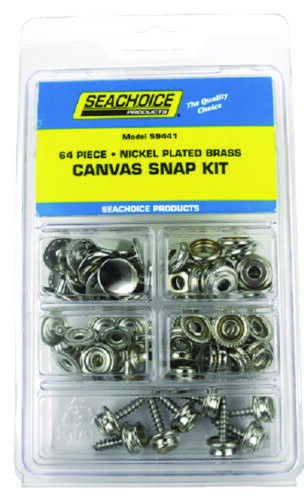 Boat Marine Bimini Top Canvas Snap Kit 64 Pieces Total Nickel Plated Brass