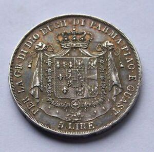 5-LIRE-1815-DUCATO-PARMA-PIACENZA-E-GUASTALLA-MARIA-LUIGIA-D-039-AUSTRIA-ARGENTO