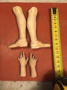 Un-Paio-Di-Piedi-mani-Legno-Figura-Uomo-per-figure-27-30-32-Cm