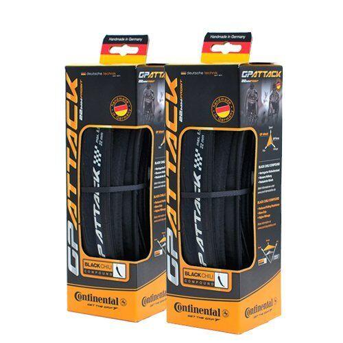 Continental Grand Prix Attack Folding Tire 700 x 22c 330 TPI 2 pcs Black