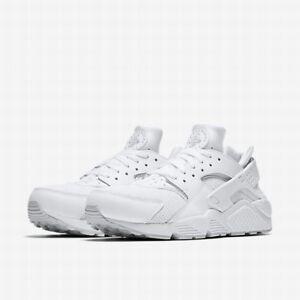 Image is loading Nike-Mens-Air-Huarache-White-Pure-Platinum-Sizes-