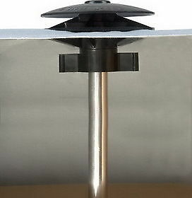 Boat Cover Vent II Black and Adjustable Pole Supports 3 Sets MARINE TOP QUALITY