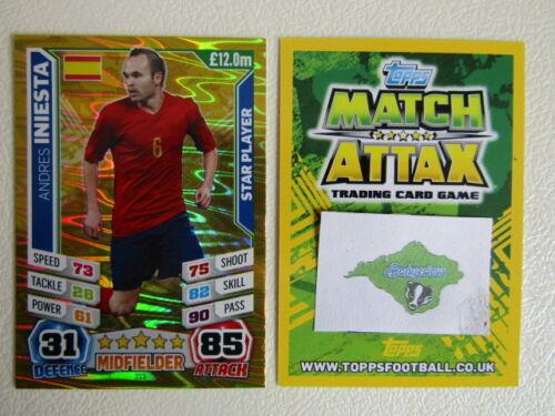 Match Attax 2014 Brasil Copa del Mundo Fútbol Tarjetas variantes G