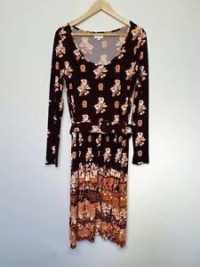 Leona-Edmiston-Ruby-Women-039-s-Dress-Frock-Retro-Floral-Belted-Size-2-Aus-12