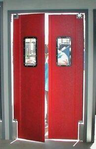 Details About New Restaurant Kitchen Door 42 X84 Double Swing Door Supermarket Swing Doors