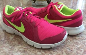 buy popular 5ff11 5b86a Image is loading Nike-Flex-Experience-Youth-Girls-Pink-Fuchsia-Running-