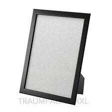 IKEA FISKBO Bilderrahmen Fotorahmen Einrahmung schwarz 21x30 cm  ( DIN A4 ) NEU
