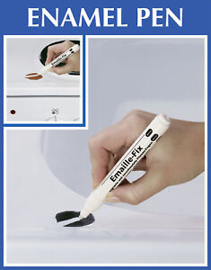 Image Is Loading White Enamel Pen Diy Touch Up Chip Repair