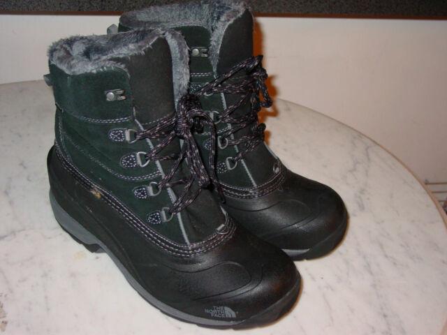 Northface Womens Cm67 Chilkat 400 Winter Boots Black Zinc Grey 8 5 For Sale Online Ebay