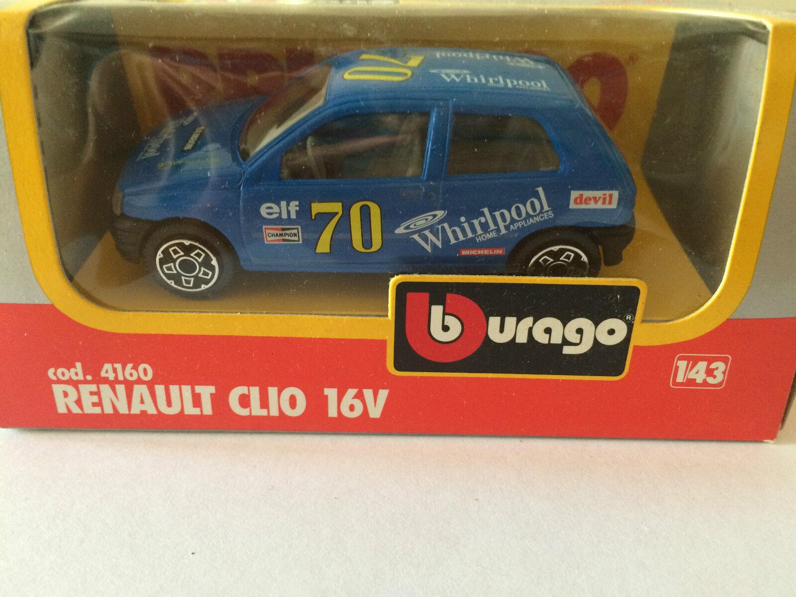 BBURAGO BURAGO RENAULT CLIO 16V COD. 4160 YEARS 1983 SCALE 1 43 IN BOX