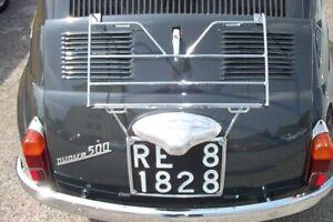 Portapacchi Fiat 500 D-F-L-R cromato per cofano - chrome plated luggage rack