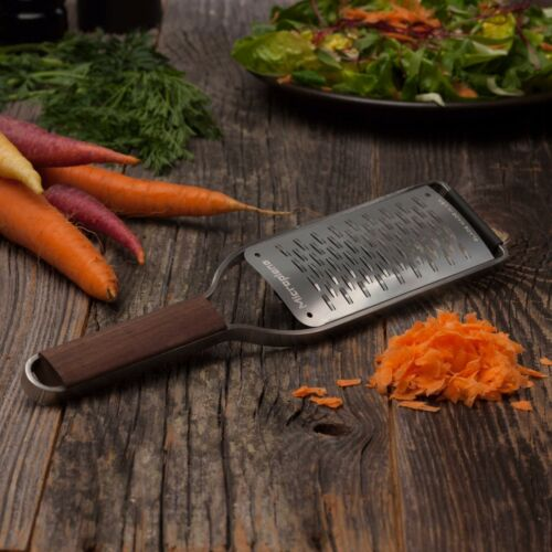Microplane Master Series Stainless Steel Ribbon Grater w// Walnut Handle