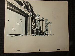 1960's SUB-MARINER TV Animation Cartoon Production Art Sc38 Atlantean Guards