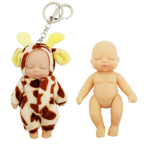 Clothes 5 jointed dolls movable Gift 1//12 Keychain Sleeping Baby BJD SD Doll
