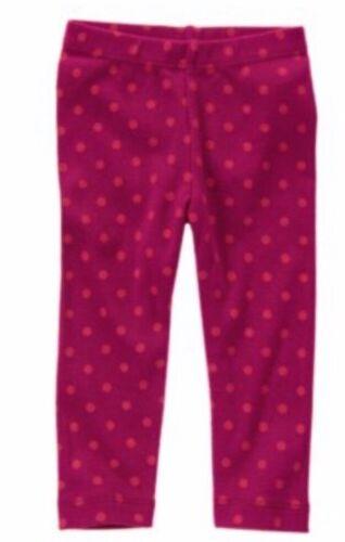 Gymboree Sweet Music 2T 3T Polka Dot Leggings Dark Pink 13