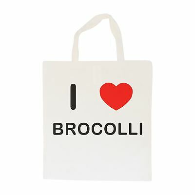 I Love Brocolli - Cotton Bag | Size choice Tote, Shopper or Sling