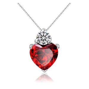 Top-Herz-Kristall-Zirkonia-Anhaenger-mit-Halskette-aus-925-Silber-Schmuckbeutel
